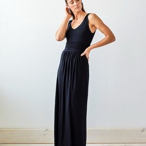 Brass Clothing Tank Maxi Dress - NAVY